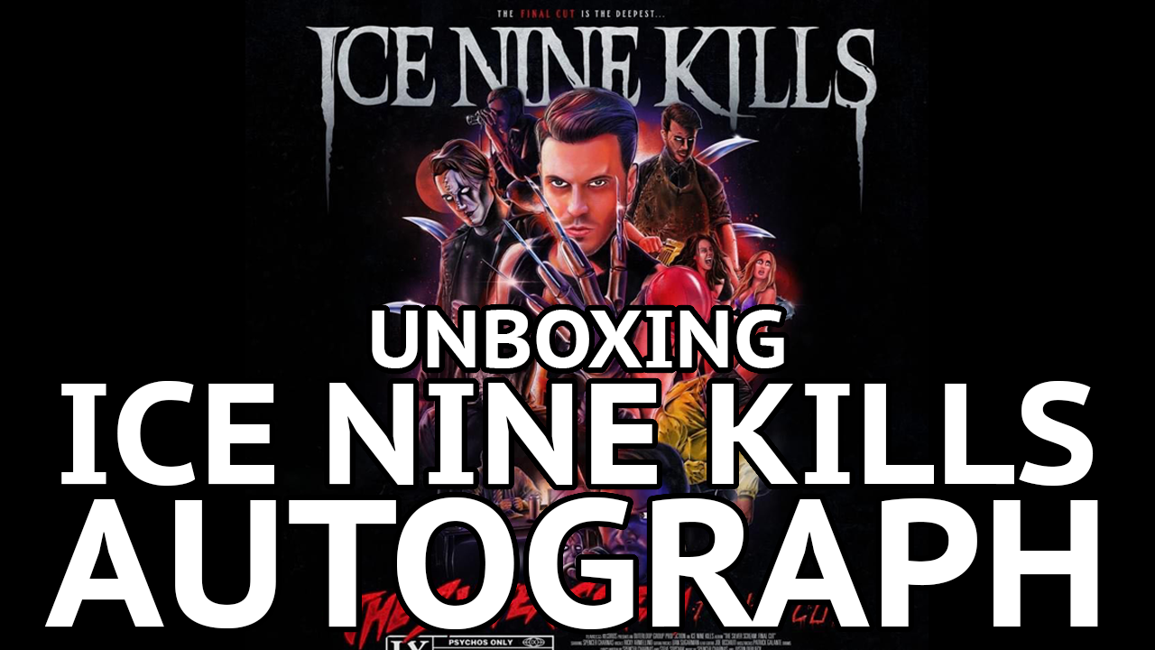 Unboxing Ice Nine Kills Spencer Chanas Autgraph