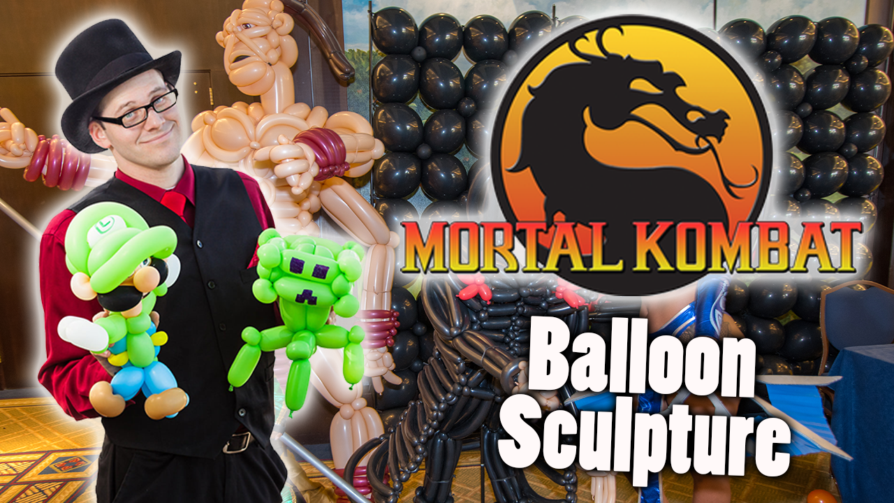 Mortal Kombat Balloon sculpture