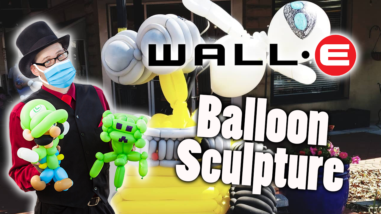 Wall-e and EvE Balloon Sculpture